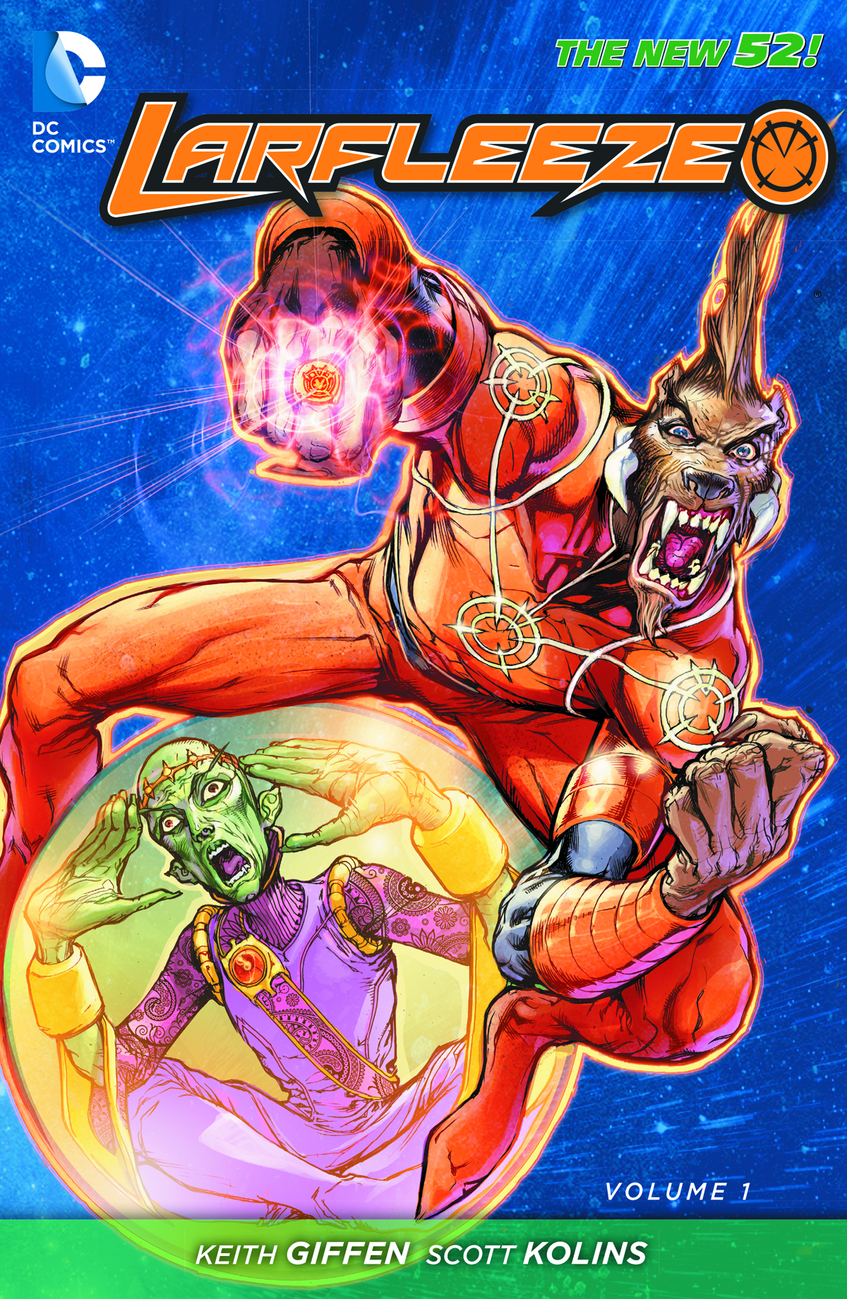 LARFLEEZE TP VOL 01 REVOLT OF THE ORANGE LANTERNS