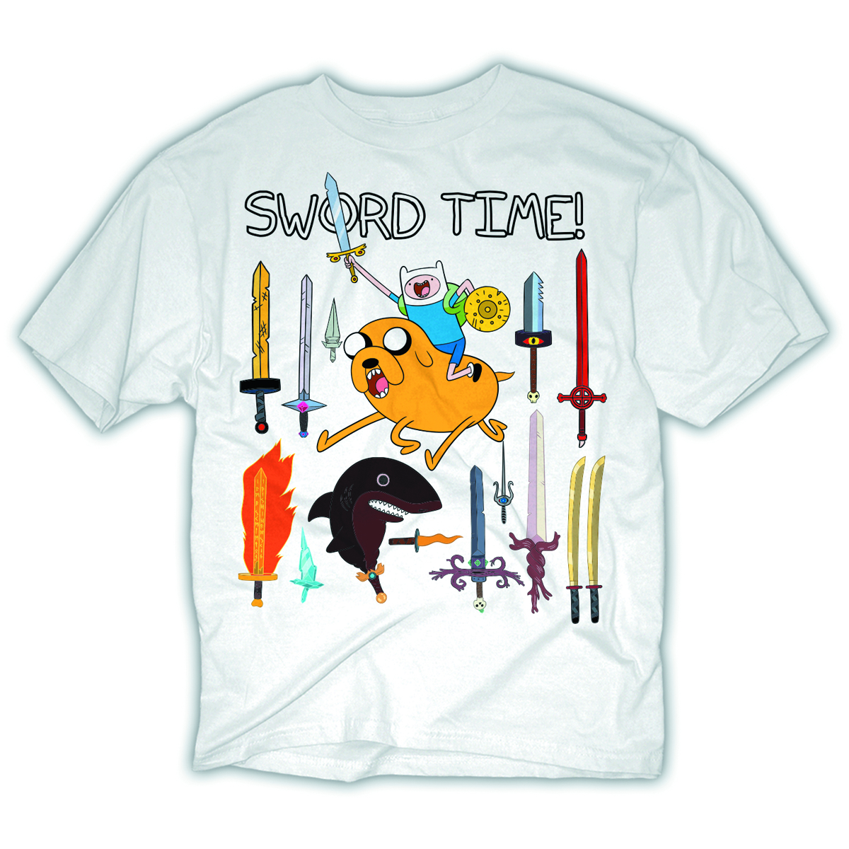 ADVENTURE TIME SWORD TIME PX WHT T/S MED