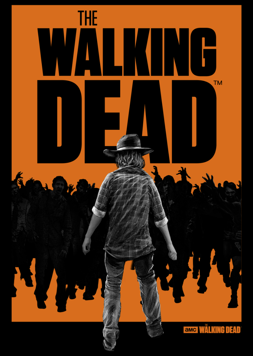 WALKING DEAD CARL WALKER PX BLK T/S LG