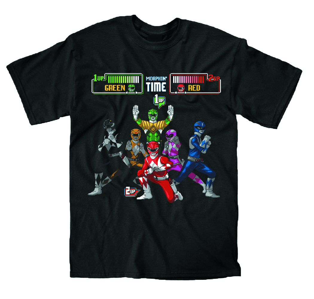 MMPR ARCADE SCREEN BLK T/S SM