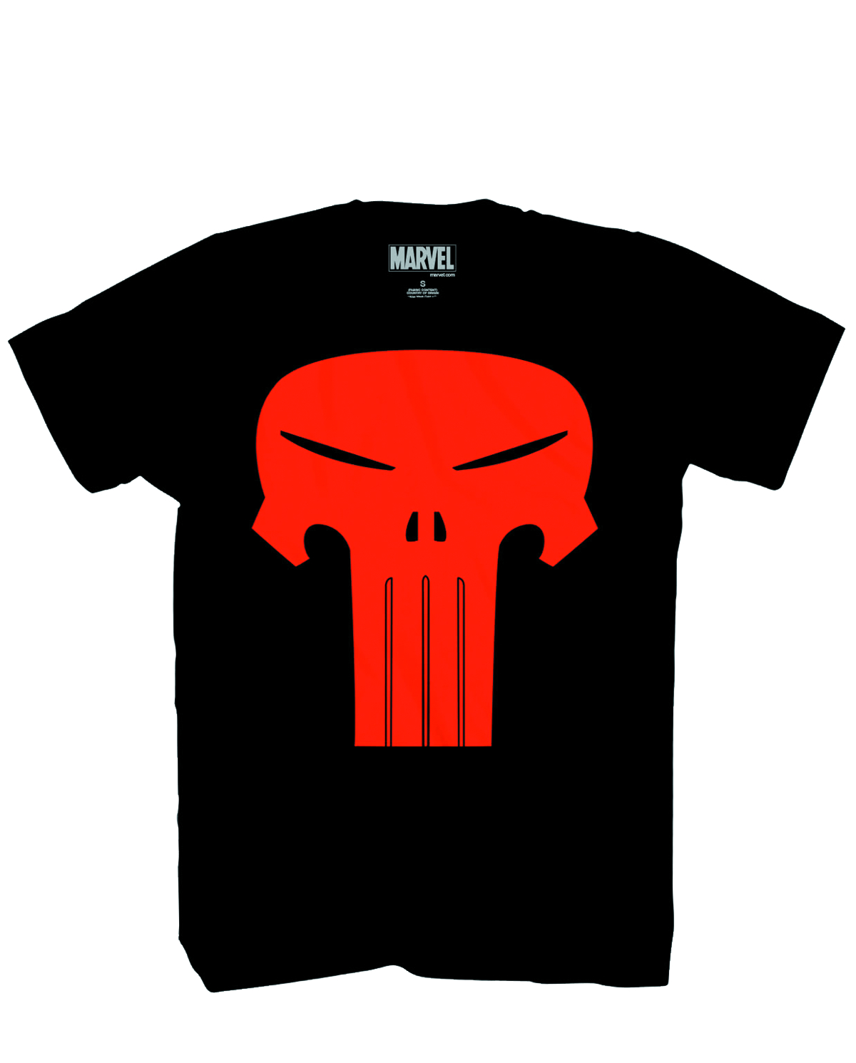 MARVEL PUNISHER SKINNY SKULL PX BLK T/S LG