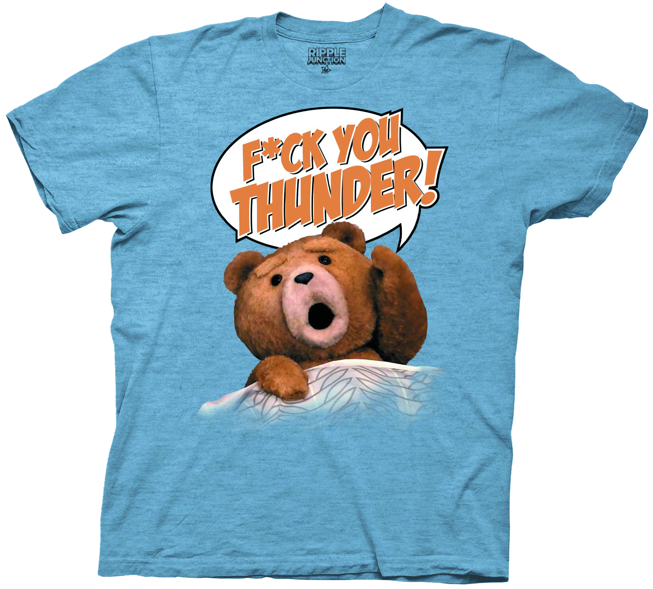 TED F*CK YOU THUNDER BLUE T/S MED