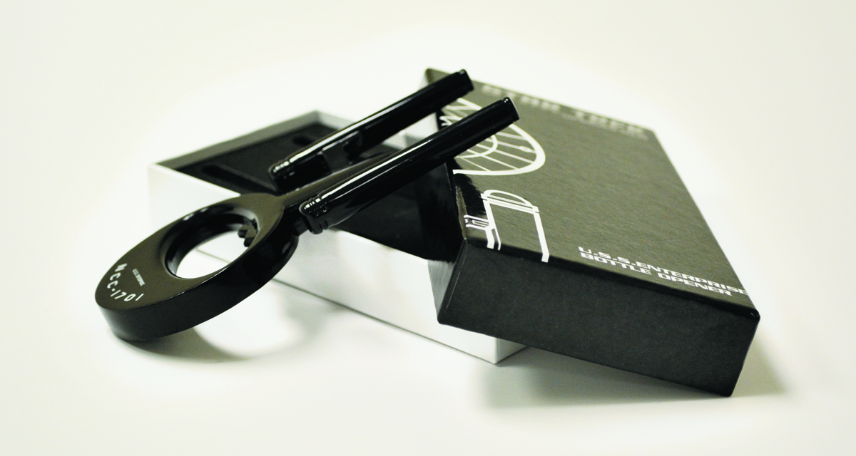 STAR TREK USS ENTERPRISE BLACK BOTTLE OPENER