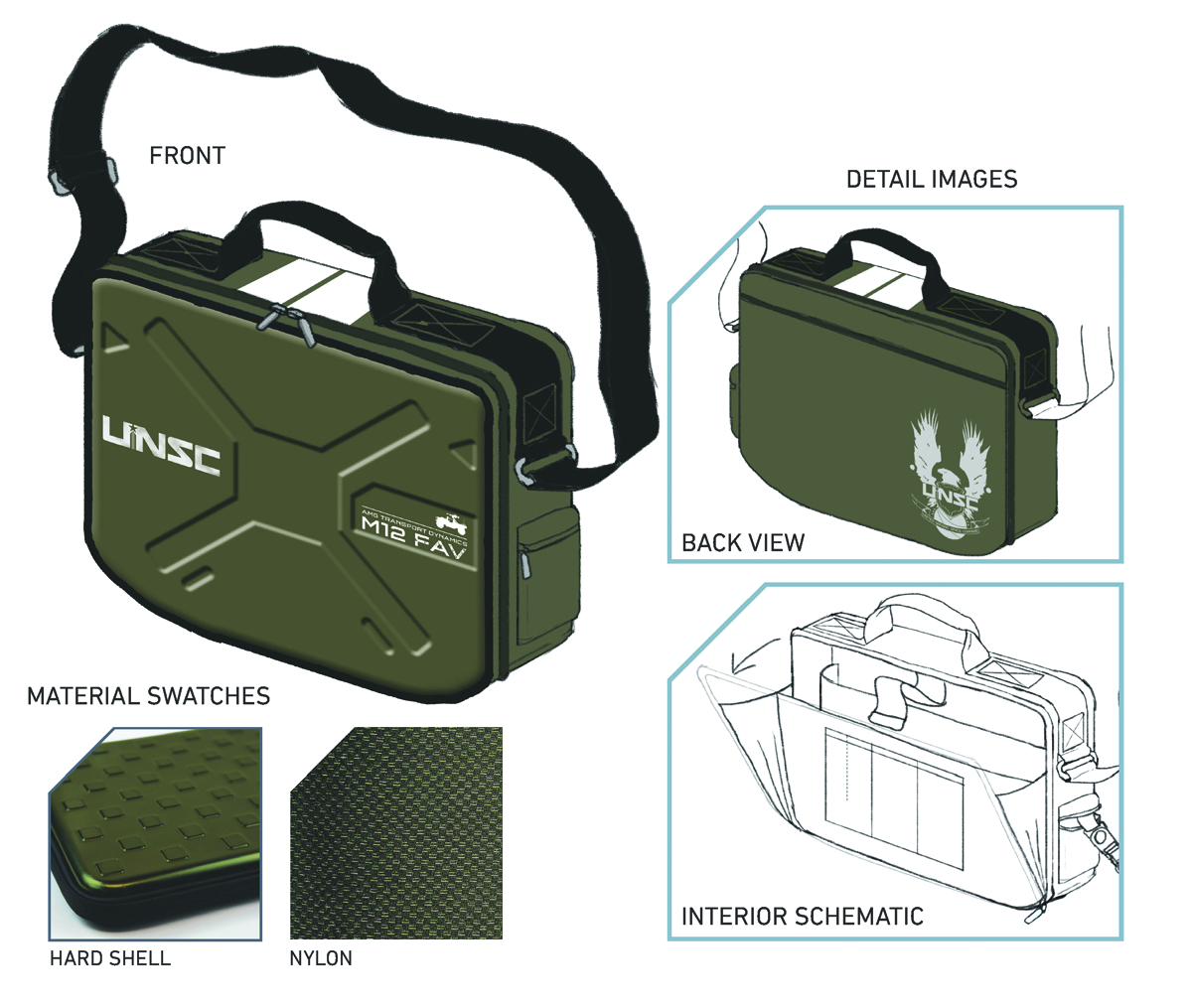 HALO WARTHOG MESSENGER BAG