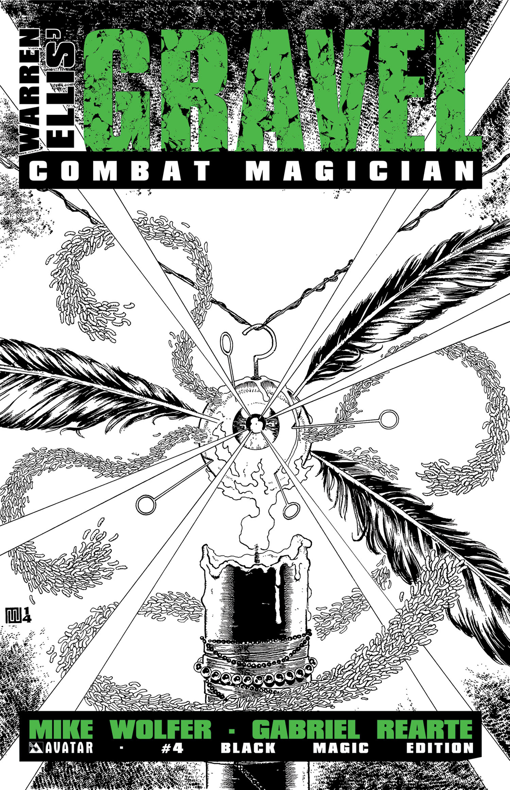 GRAVEL COMBAT MAGICIAN #4 BLACK MAGIC RETAILER ORDER INCV