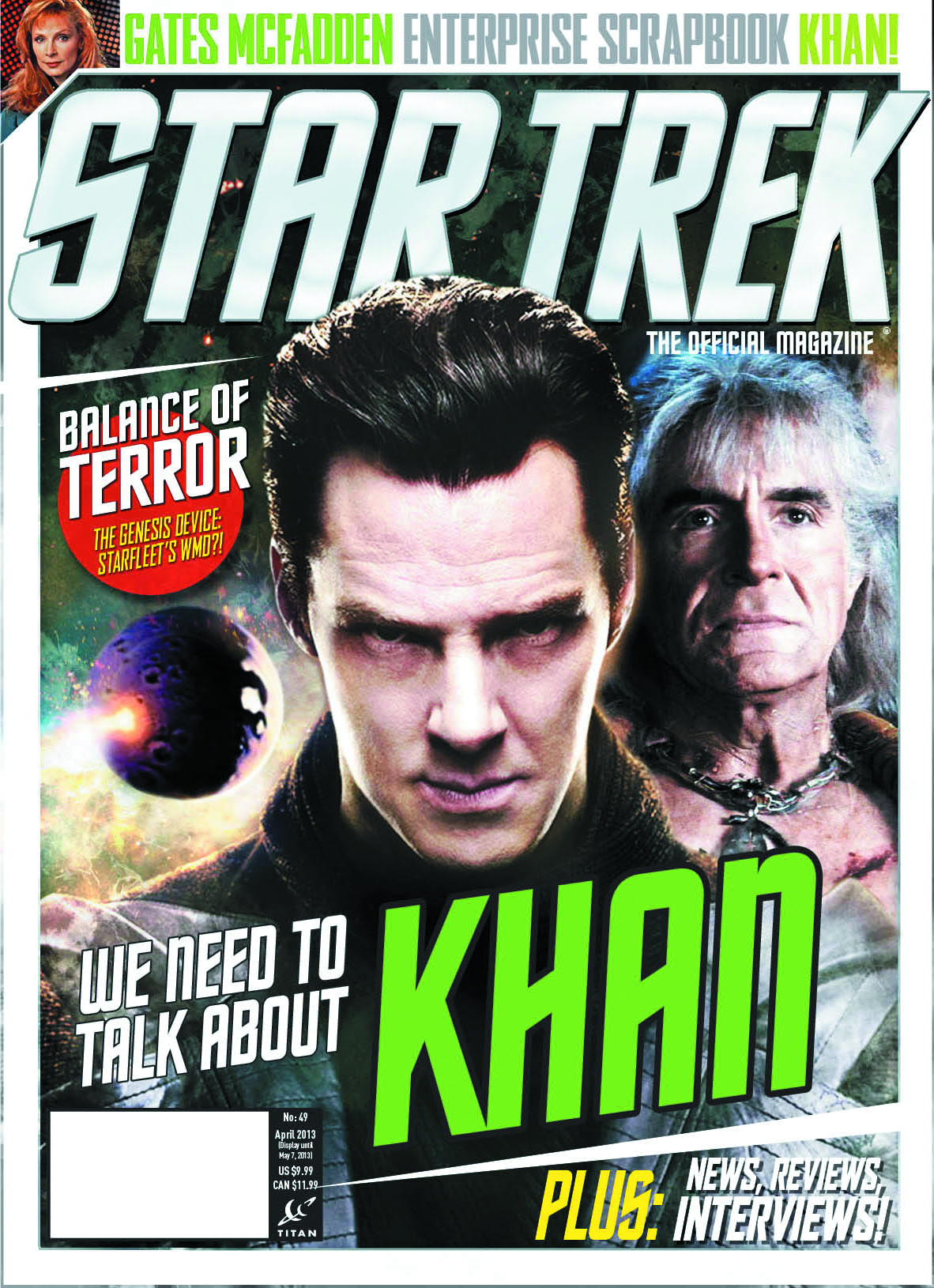 STAR TREK MAGAZINE #49 NEWSSTAND ED
