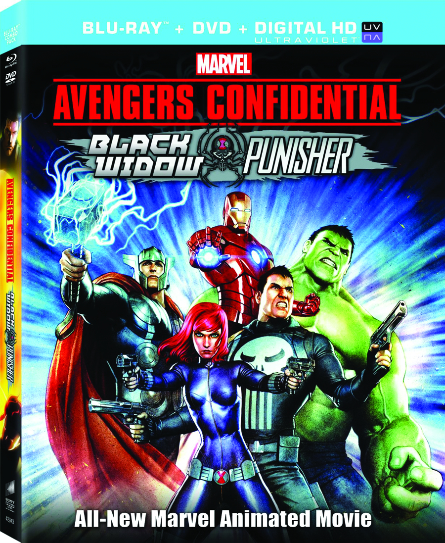 AVENGERS CONF BLACK WIDOW & PUNISHER BD + DVD