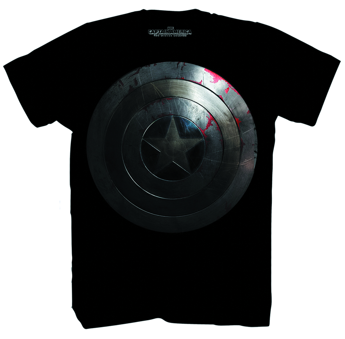 CAPT AMERICA II BEATEN SHIELD BLK T/S MED