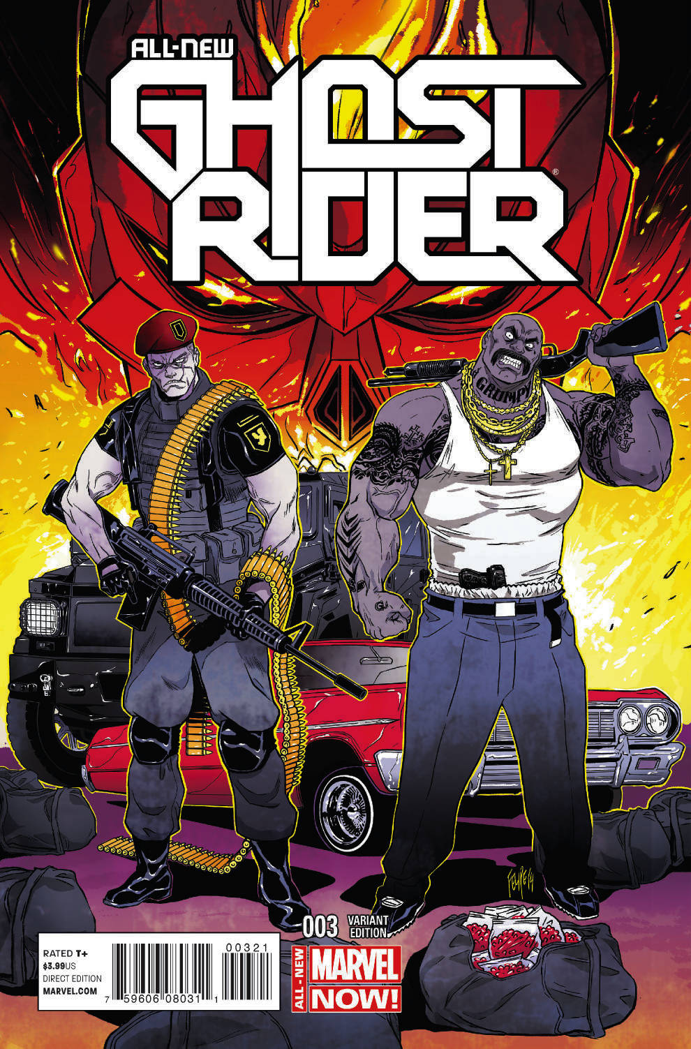 MAR140661 - ALL NEW GHOST RIDER #3 SMITH VAR ANMN - Previews