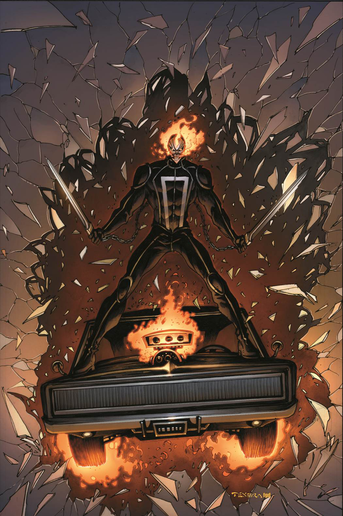 ALL NEW GHOST RIDER #3 VEHICLE TEXEIRA VAR ANMN