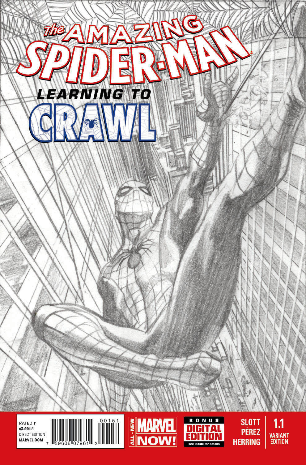 AMAZING SPIDER-MAN #1.1 ROSS SKETCH VAR ANMN