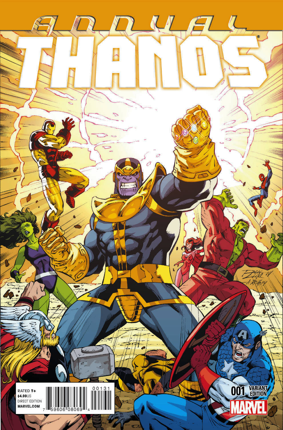 THANOS ANNUAL #1 LIM VAR