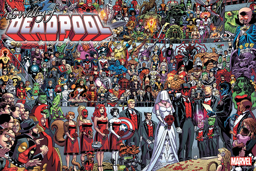 DEADPOOL WEDDING BY KOBLISH POSTER