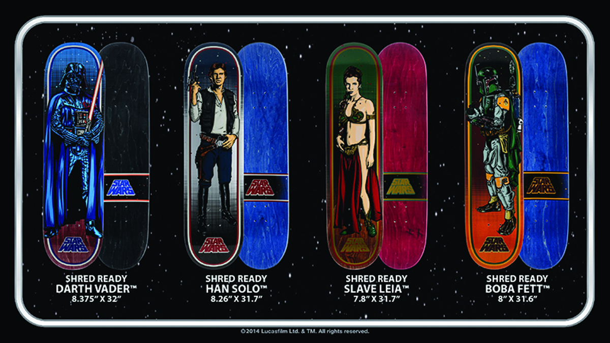 SW HAN SOLO COLLECTIBLE SKATEBOARD DECK