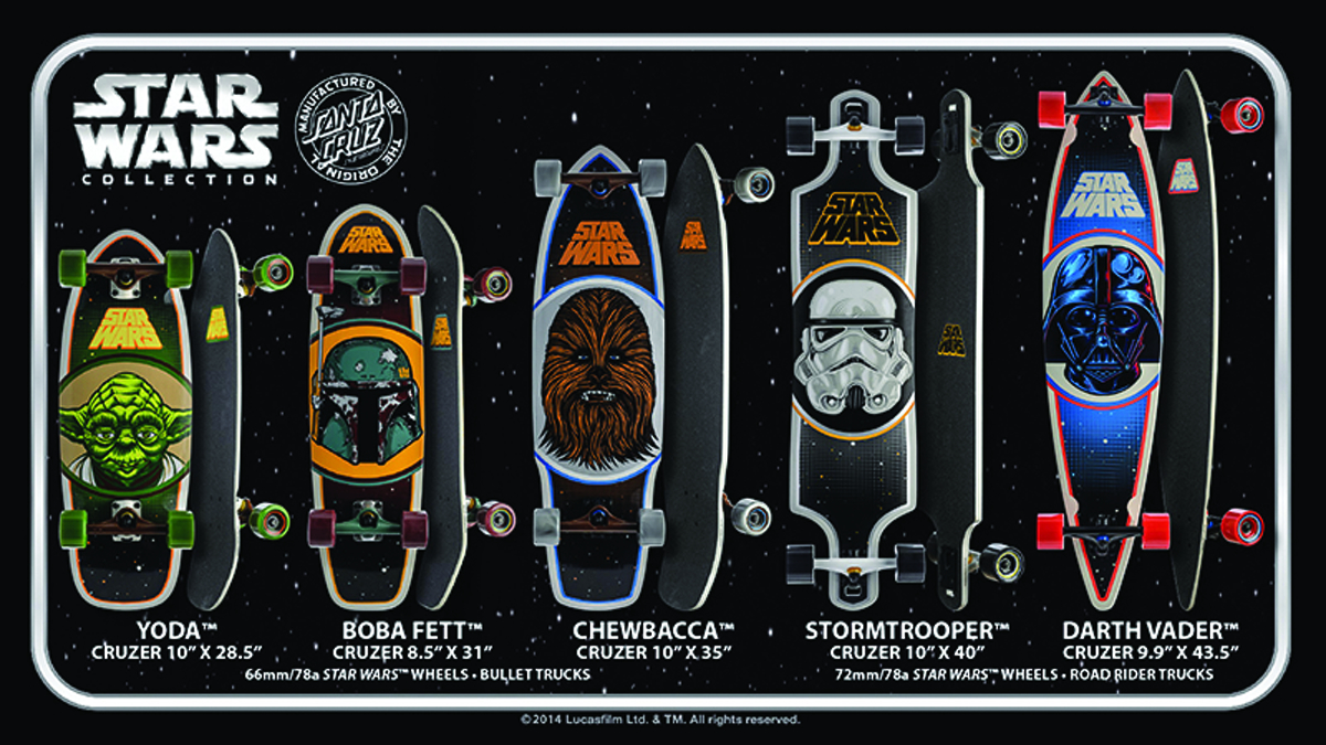 STAR WARS DARTH VADER CRUZER SKATEBOARD