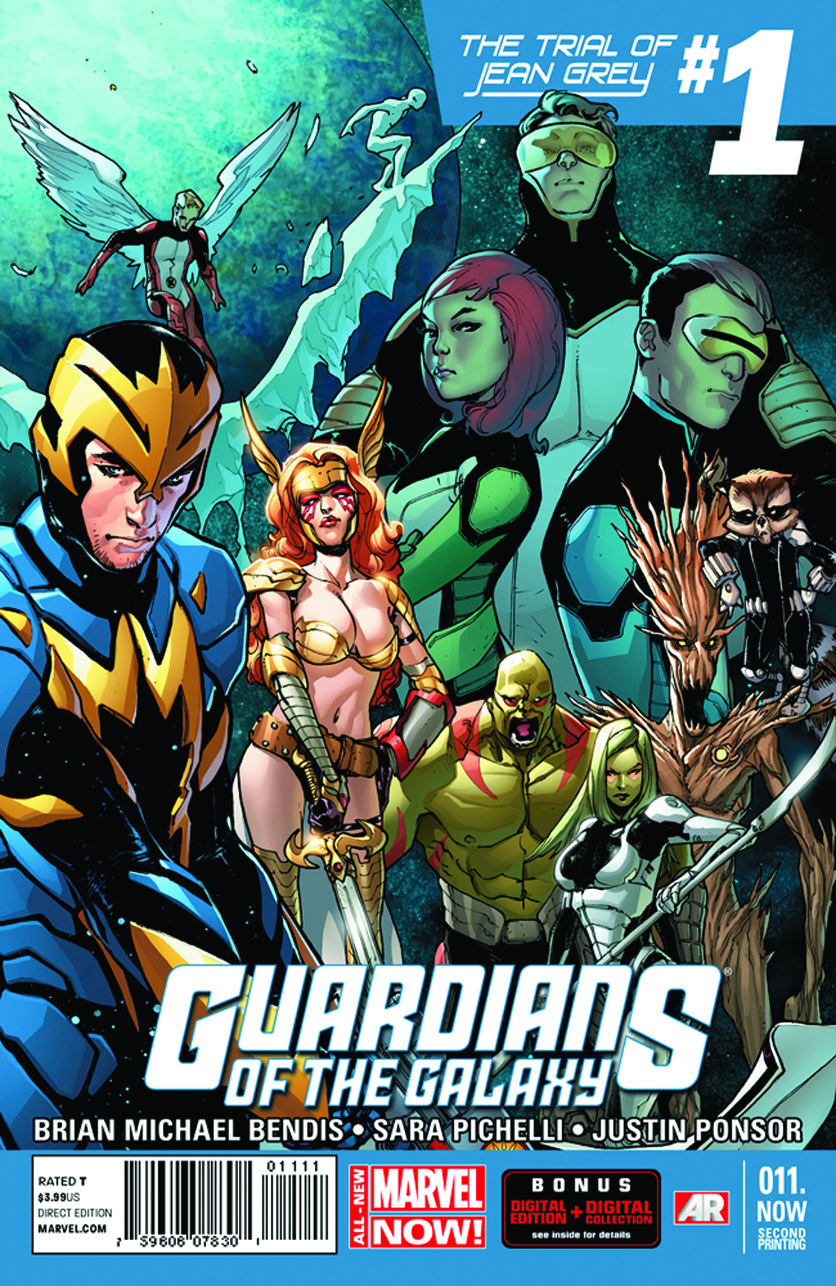GUARDIANS OF GALAXY #11.NOW 2ND PTG PICHELLI VAR ANMN