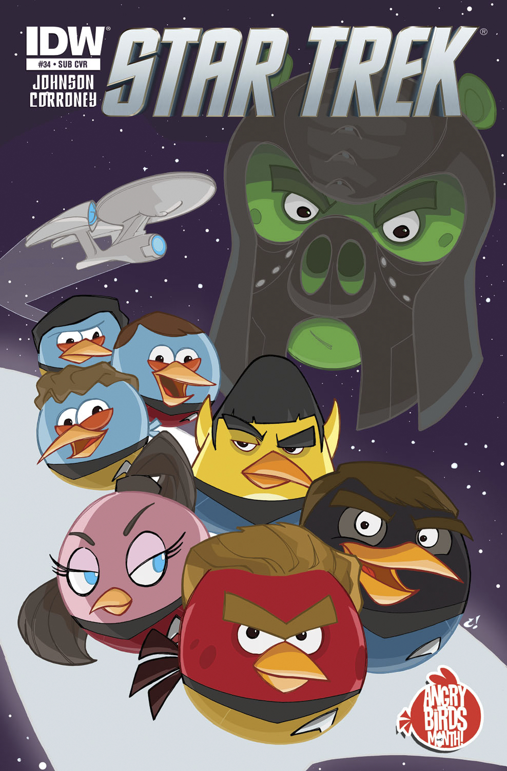 STAR TREK ONGOING #34 SUBSCRIPTION VAR ANGRY BIRDS