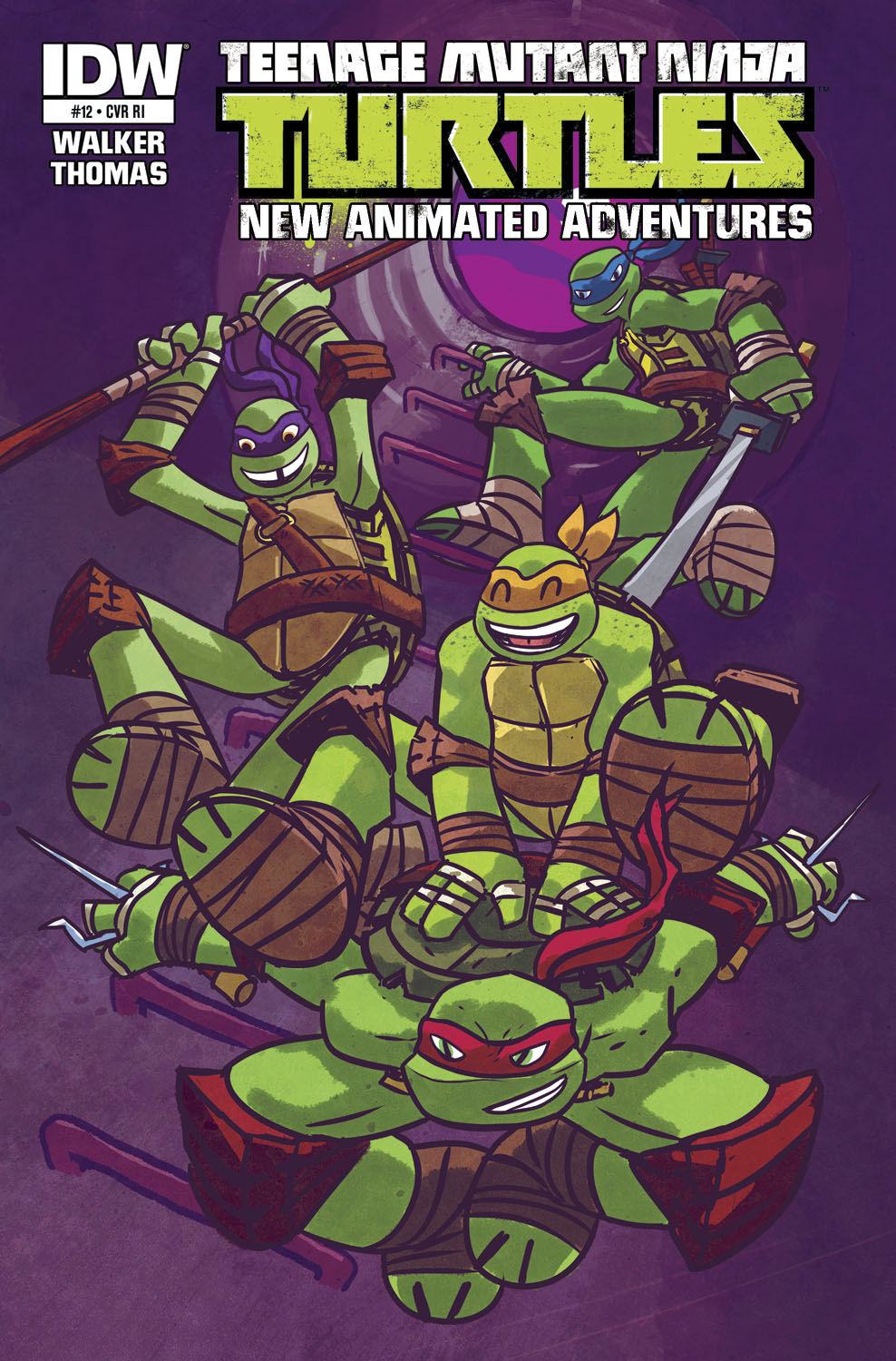 TMNT NEW ANIMATED ADVENTURES #12 FREE 10 COPY INCV