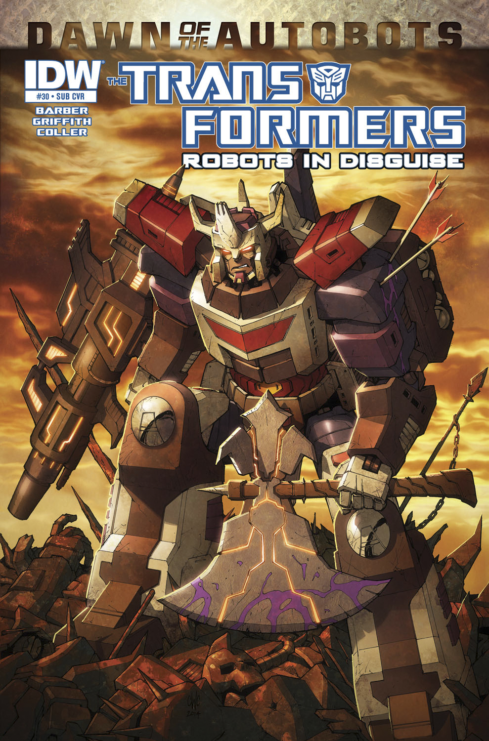 TRANSFORMERS ROBOTS IN DISGUISE #30 SUBSCRIPTION VAR