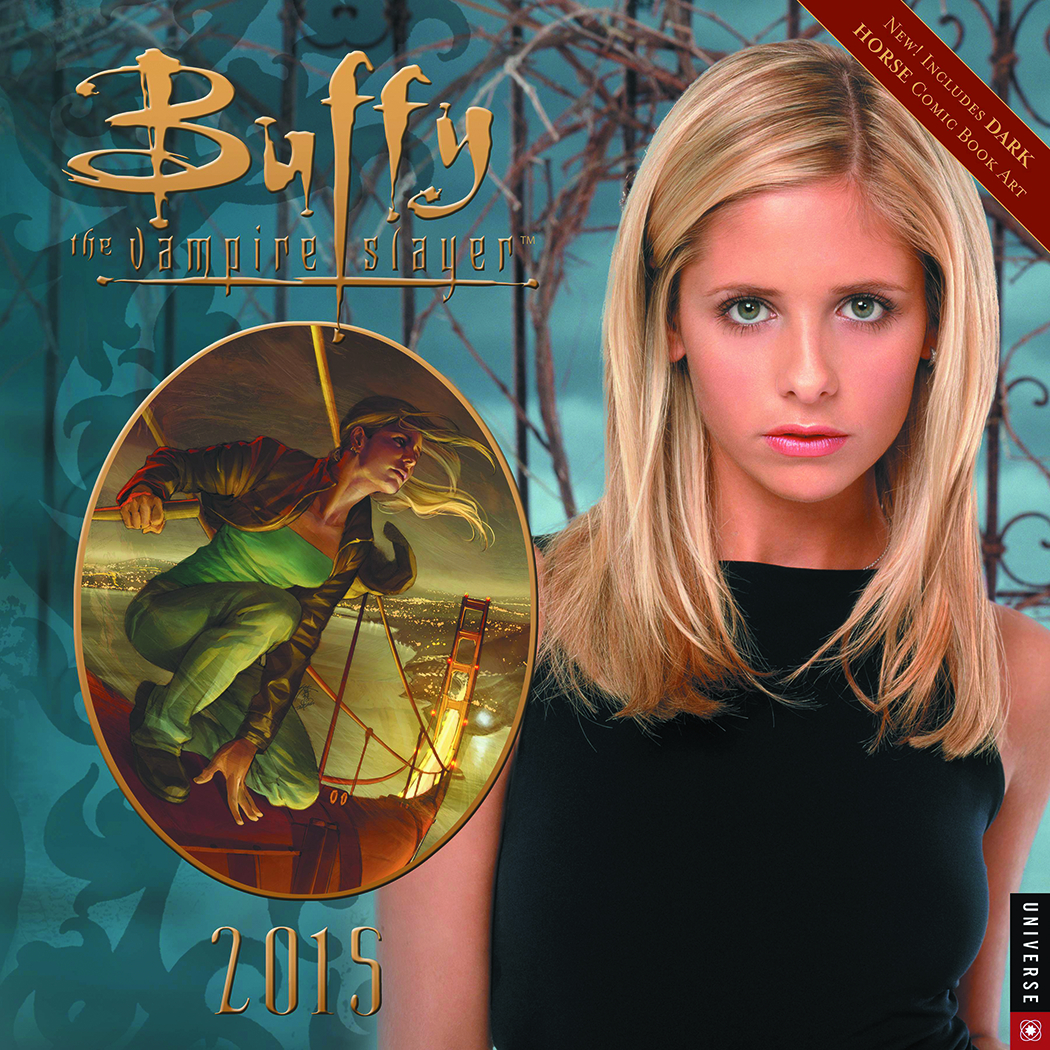 BTVS BUFFY COMIC ART 2015 WALL CALENDAR