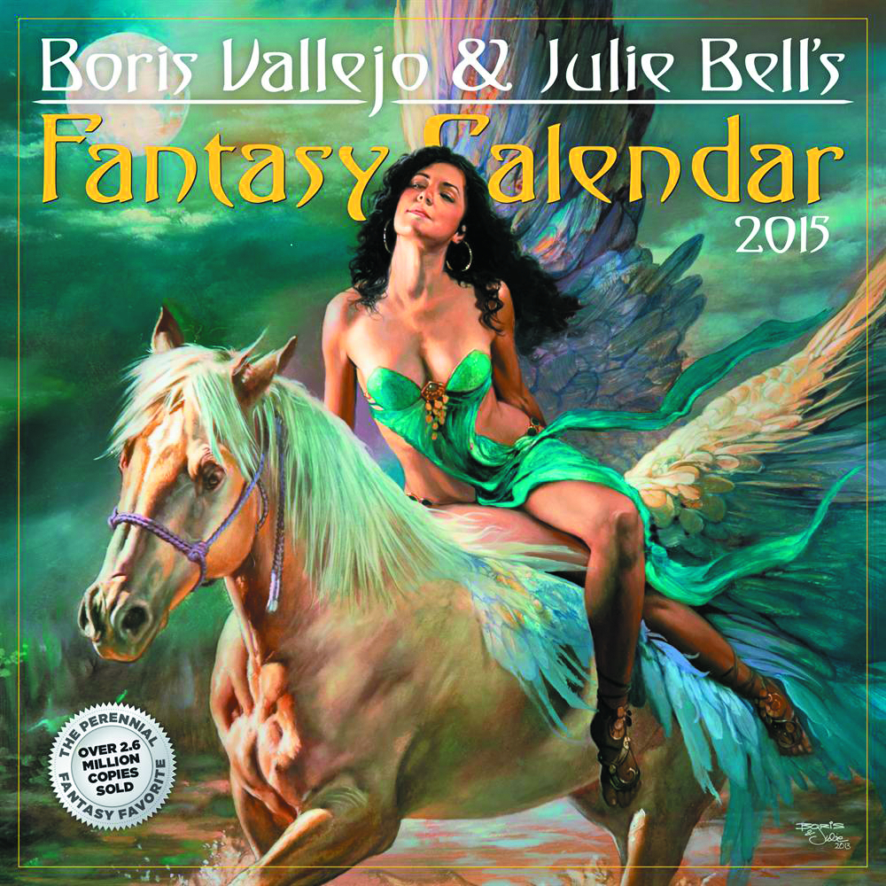 BORIS VALLEJO JULIE BELL FANTASY 2015 WALL CAL