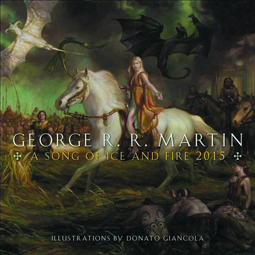 GEORGE RR MARTIN SONG ICE & FIRE 2015 WALL CAL