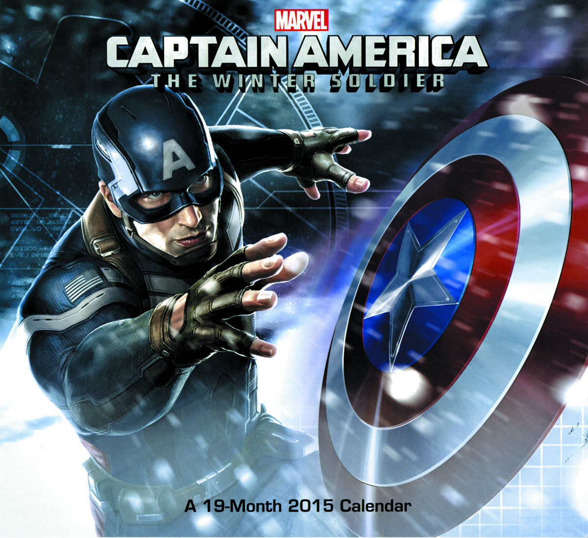CAPT AMERICA WINTER SOLDIER 19 MONTH 2015 WALL CAL