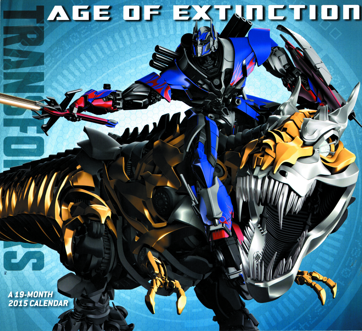 TRANSFORMERS AGE OF EXTINCTION MONTH 2015 WALL CAL