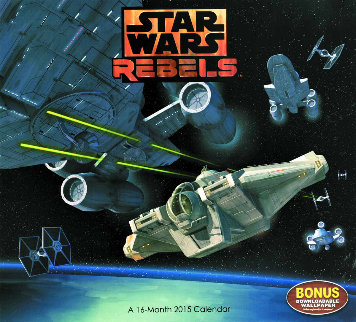 STAR WARS REBELS 2015 WALL CAL