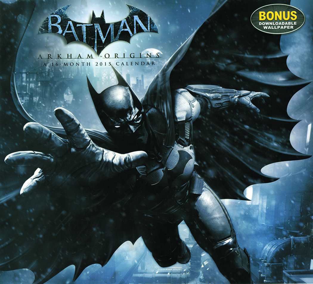 BATMAN ARKHAM ORIGINS 16 MONTH 2015 WALL CAL