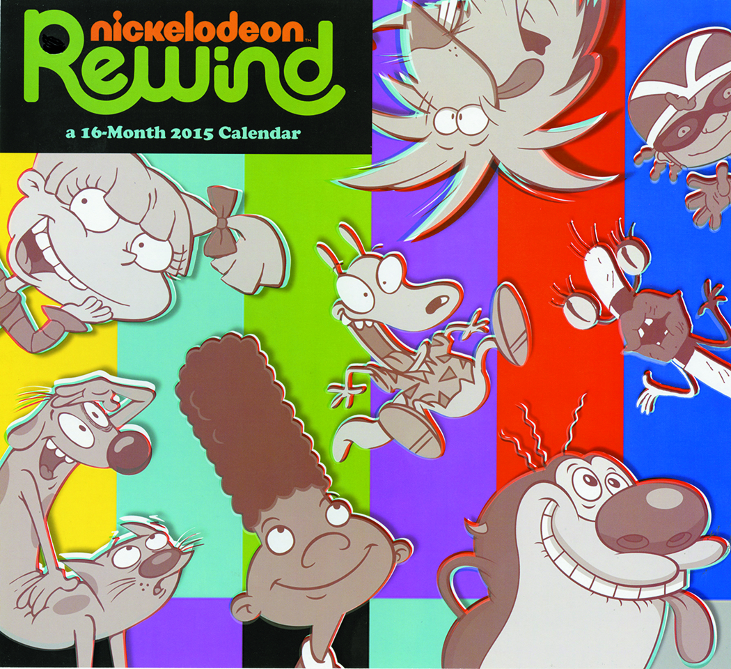 NICKELODEON REWIND 2015 16 MONTH WALL CAL