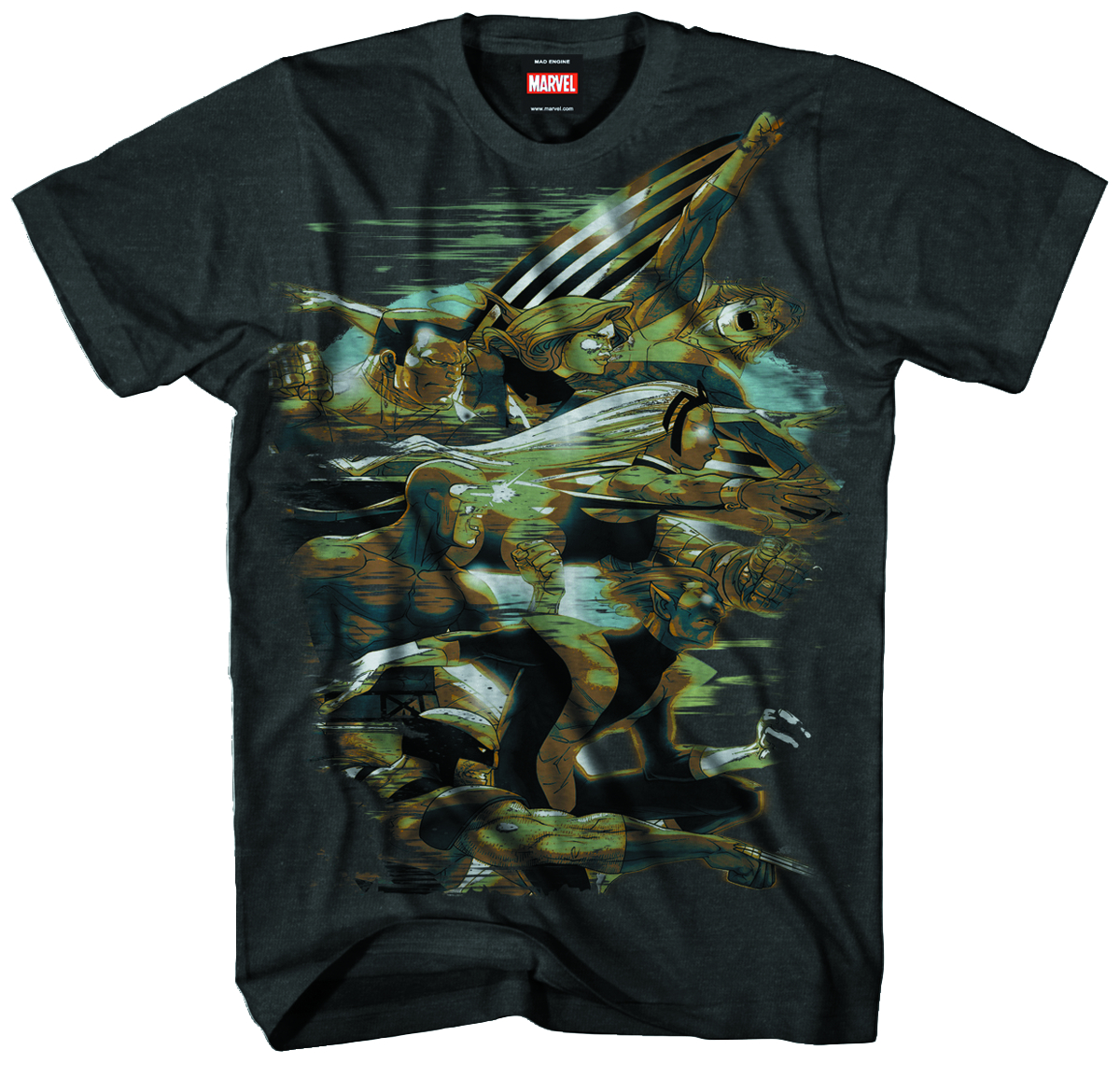 X-MEN FORWARD PX CHARCOAL HEATHER T/S LG