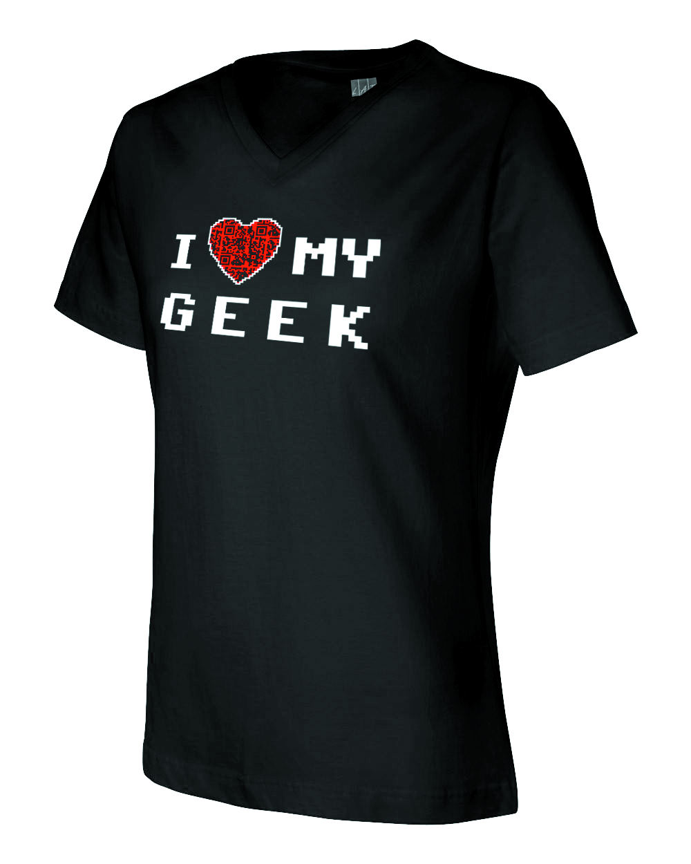 I HEART MY GEEK QR CODE JRS T/S MED