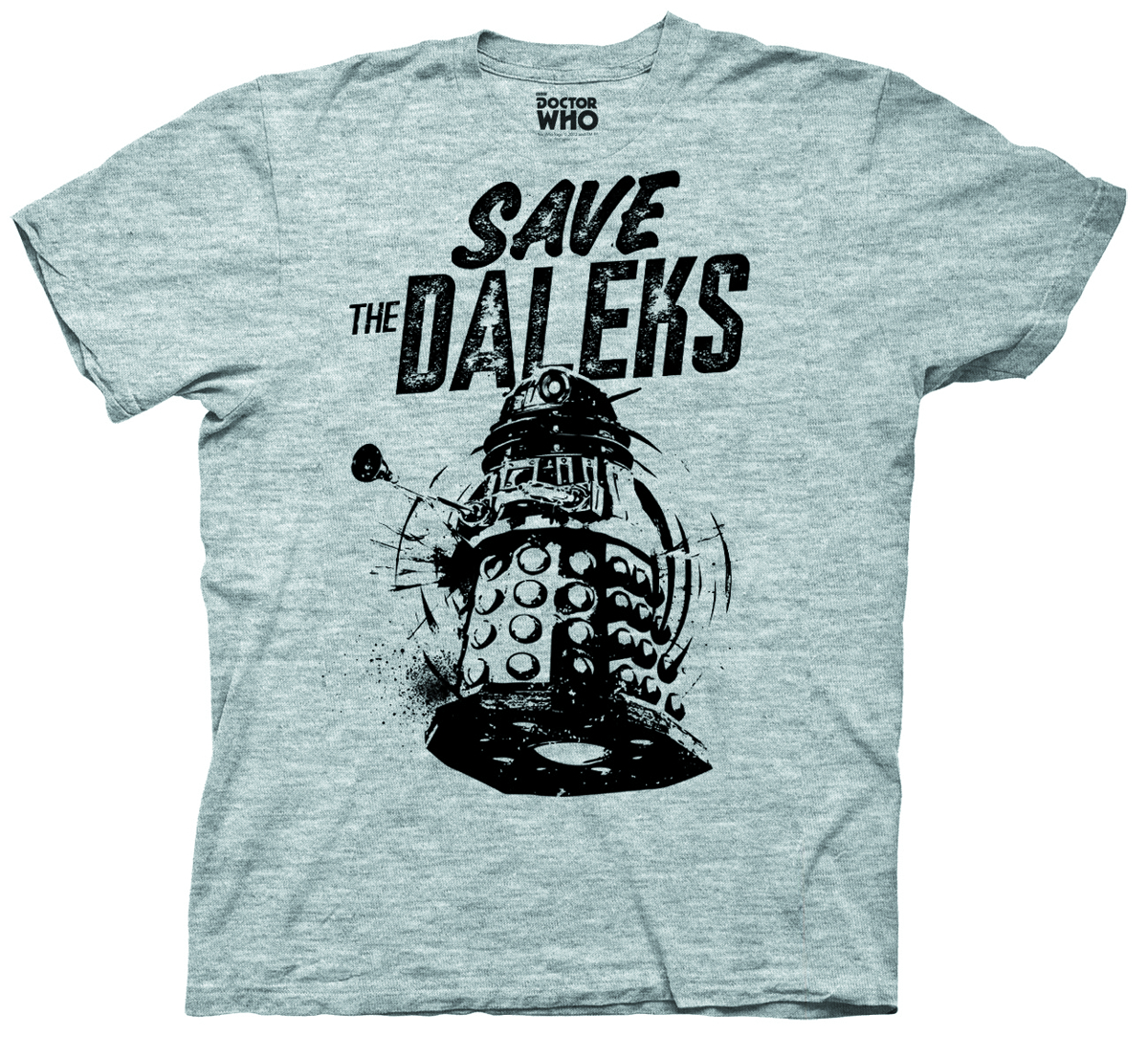 DOCTOR WHO SAVE THE DALEKS GRAY T/S XXL
