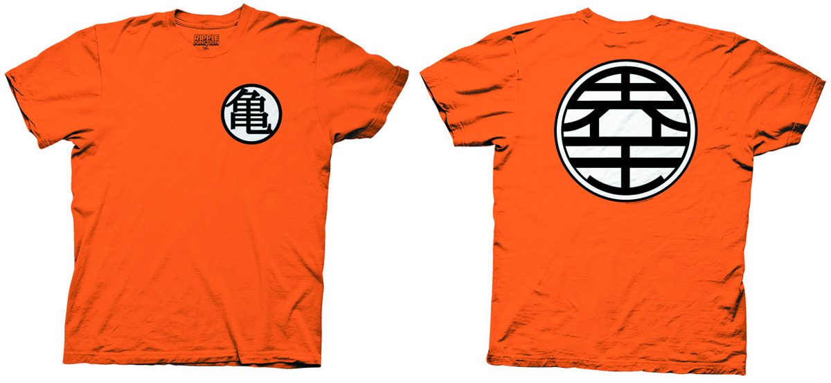 DRAGONBALL Z KAME SYMBOL ORANGE T/S MED