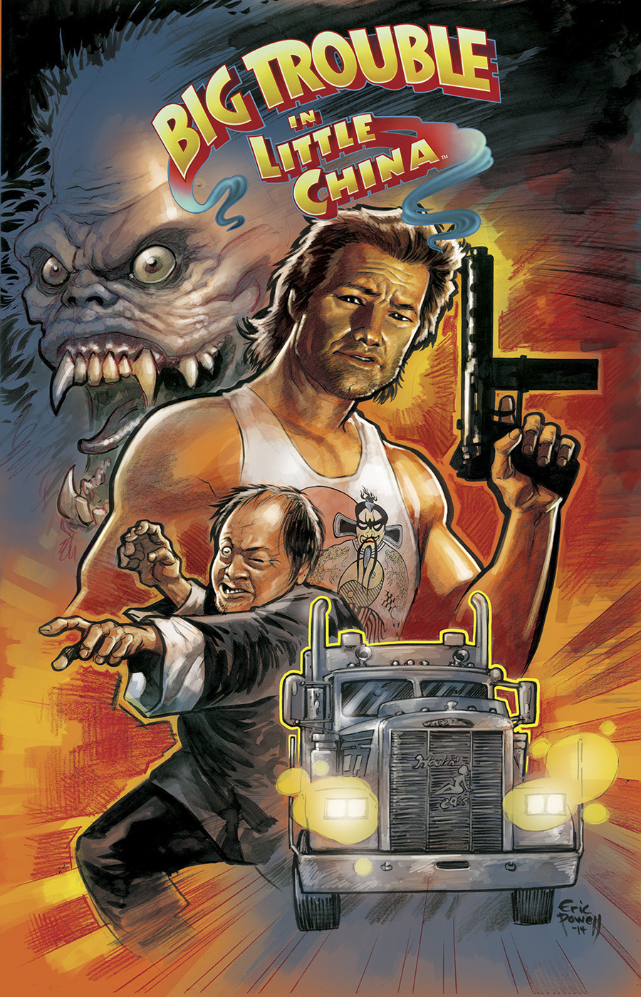 BIG TROUBLE IN LITTLE CHINA #1 100 COPY INCV TANK TOP VAR