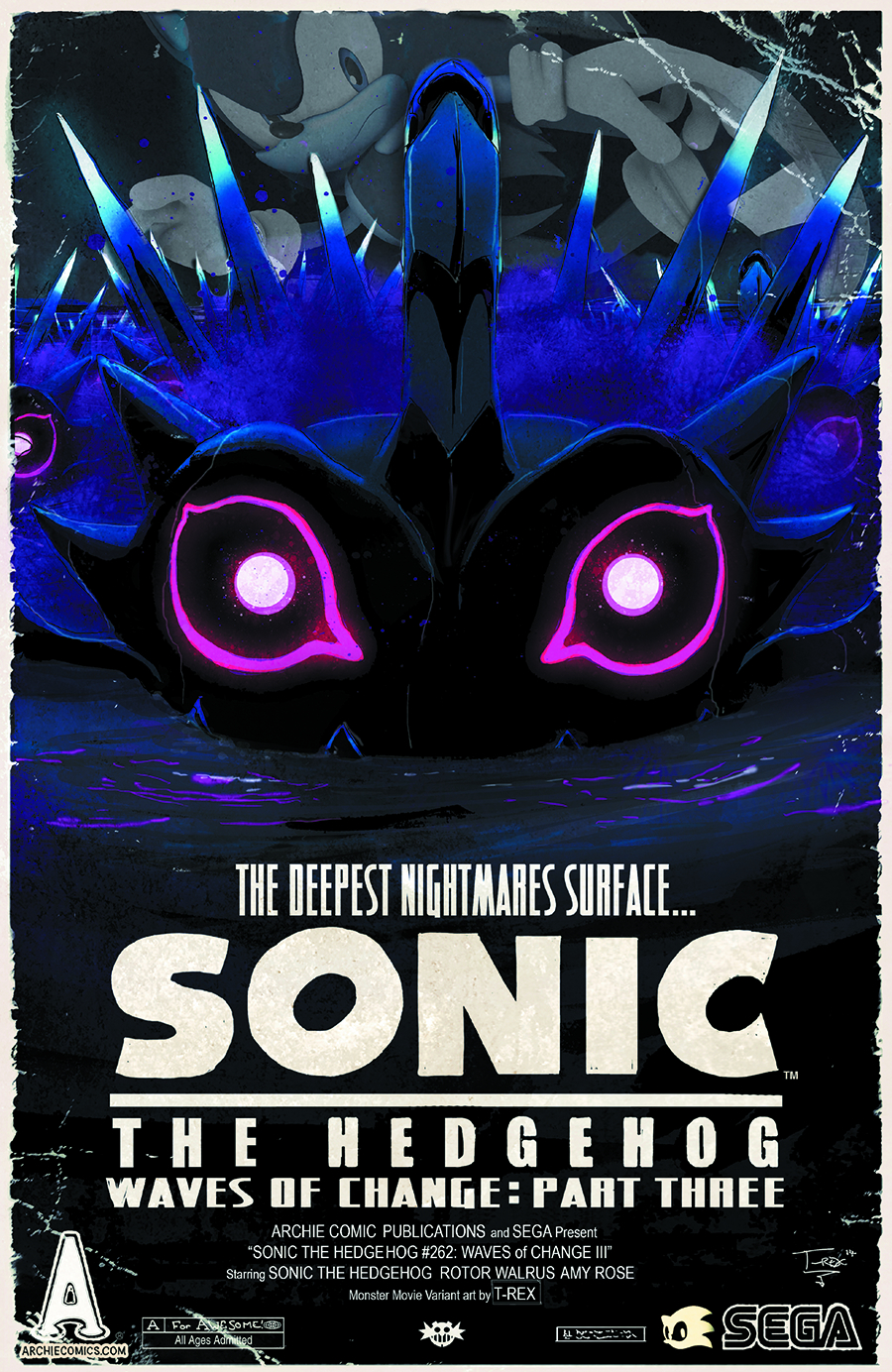SONIC THE HEDGEHOG #262 MONSTER MOVIE VAR CVR