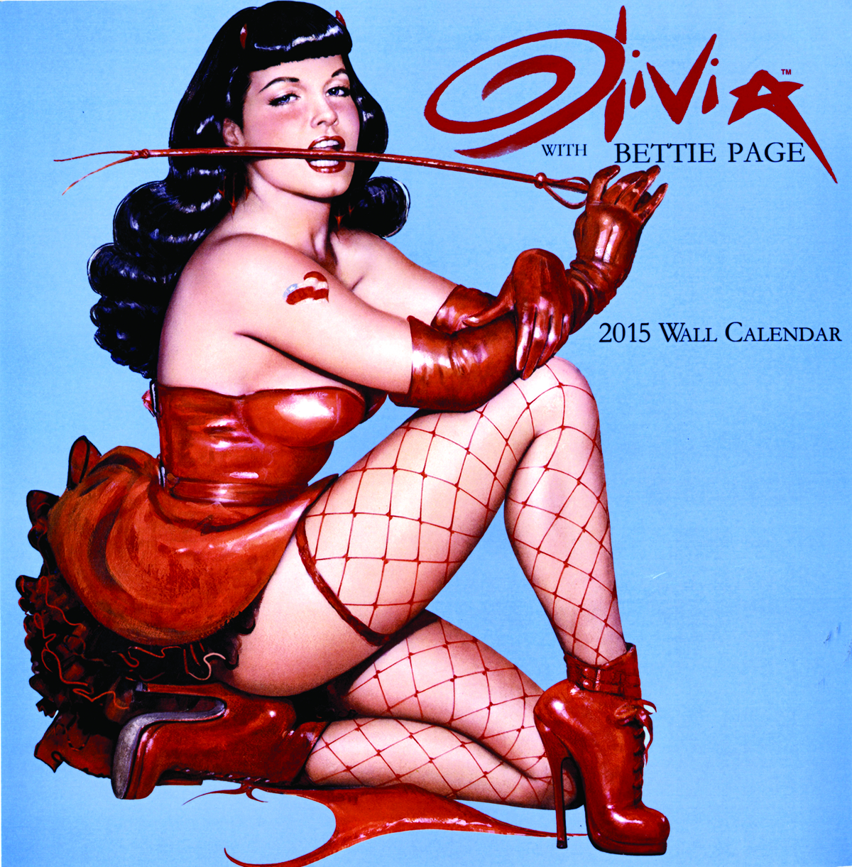 OLIVIA BETTIE PAGE 2015 WALL CAL