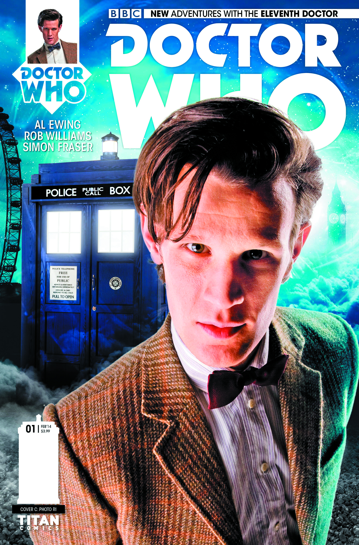 DOCTOR WHO 11TH #1 10 COPY INCV PHOTO