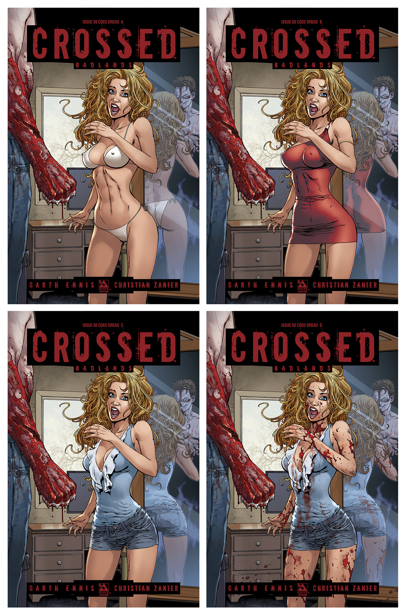 CROSSED BADLANDS #50 COED DREAD 4 CVR SET