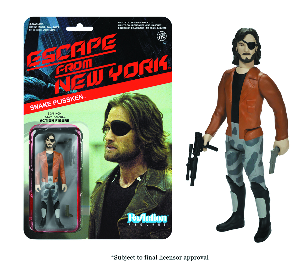 REACTION ESCAPE FROM NY SNAKE W/JACKET FIG
