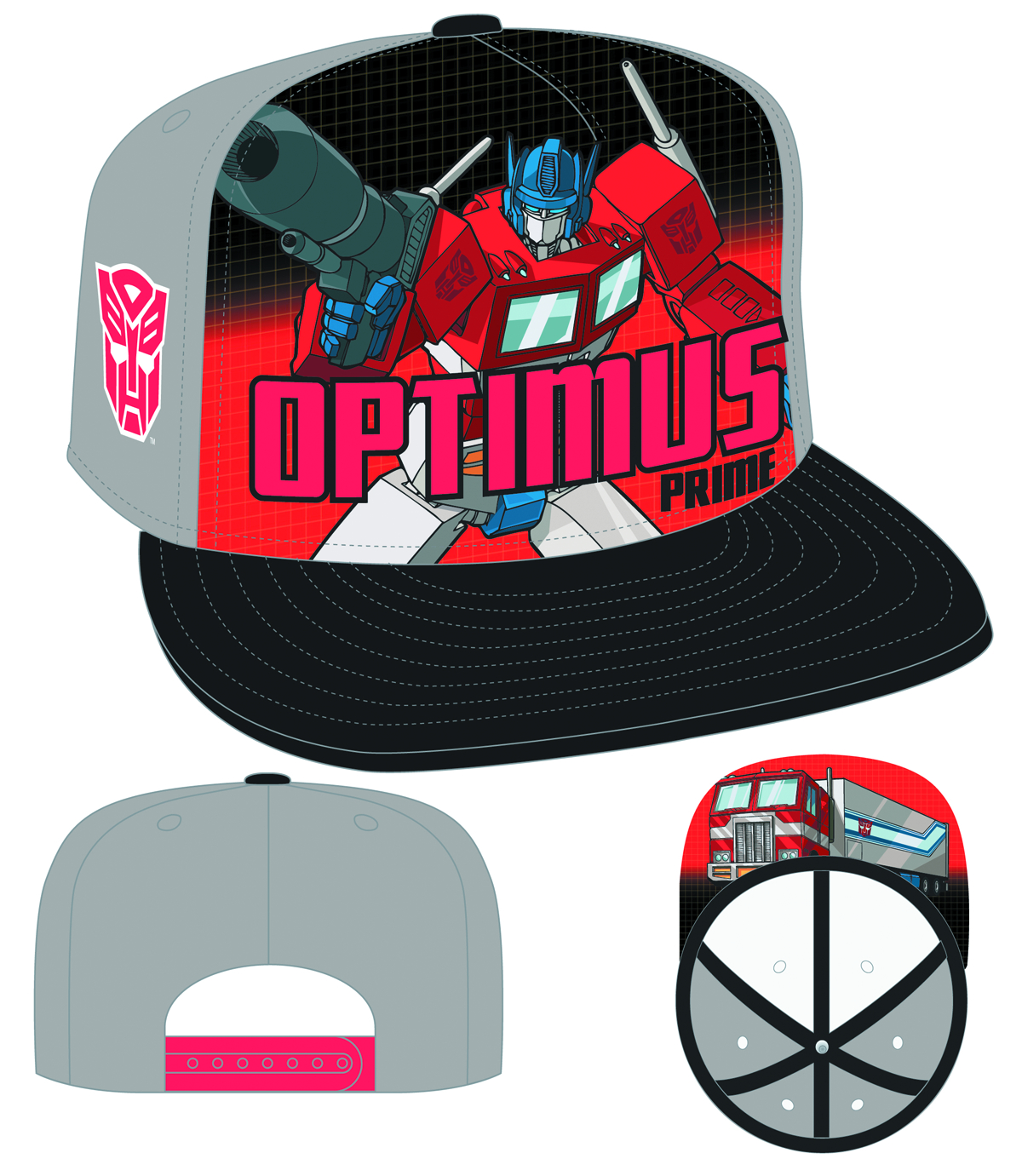 TRANSFORMERS OPTIMUS SUB FRONT SNAP BACK CAP