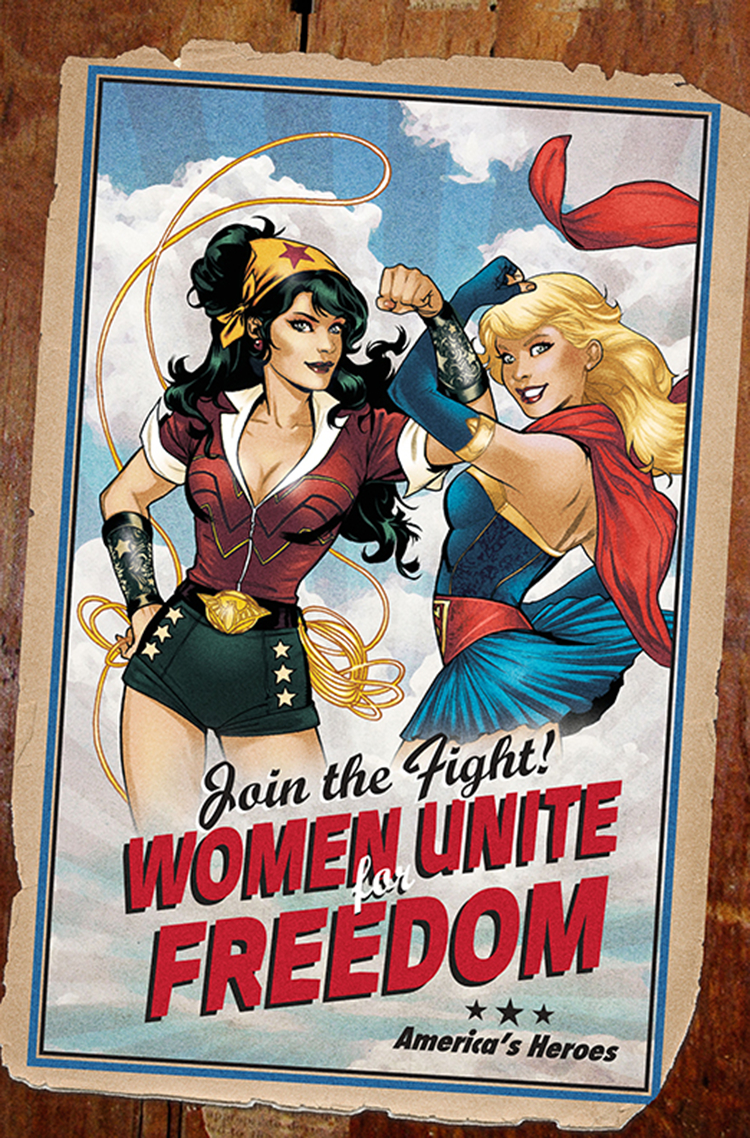SUPERMAN WONDER WOMAN #9 BOMBSHELLS VAR ED