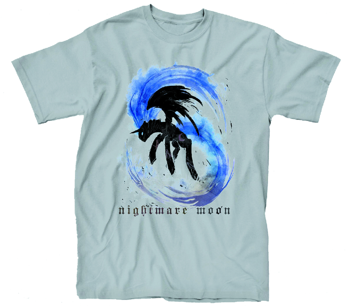 MLP MYTHICAL NIGHTMARE MOON SILVER T/S LG