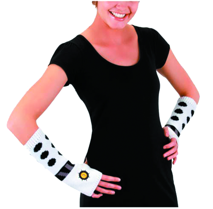 DOCTOR WHO DALEK WHITE ARM WARMERS