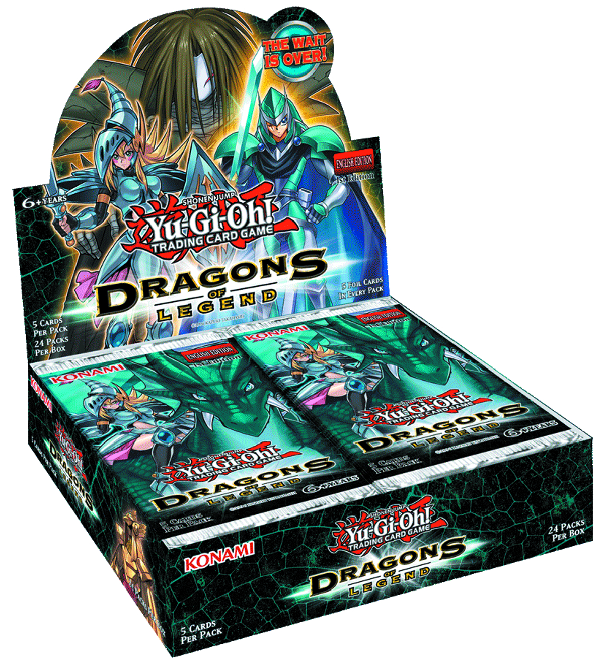 YU GI OH TCG DRAGONS OF LEGEND BOOSTER DIS