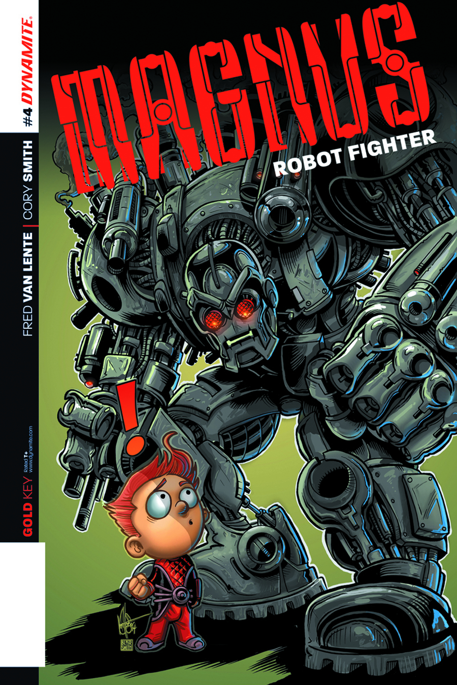 MAGNUS ROBOT FIGHTER #4 100 COPY VAN LENTE SGN INCV