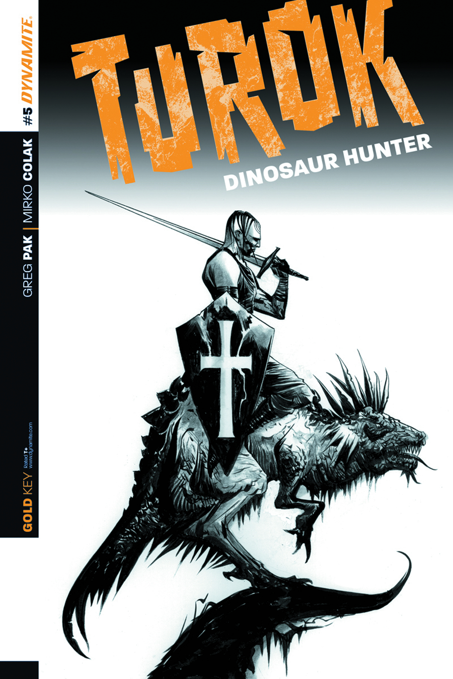 TUROK DINOSAUR HUNTER #5 25 COPY LEE B&W INCV
