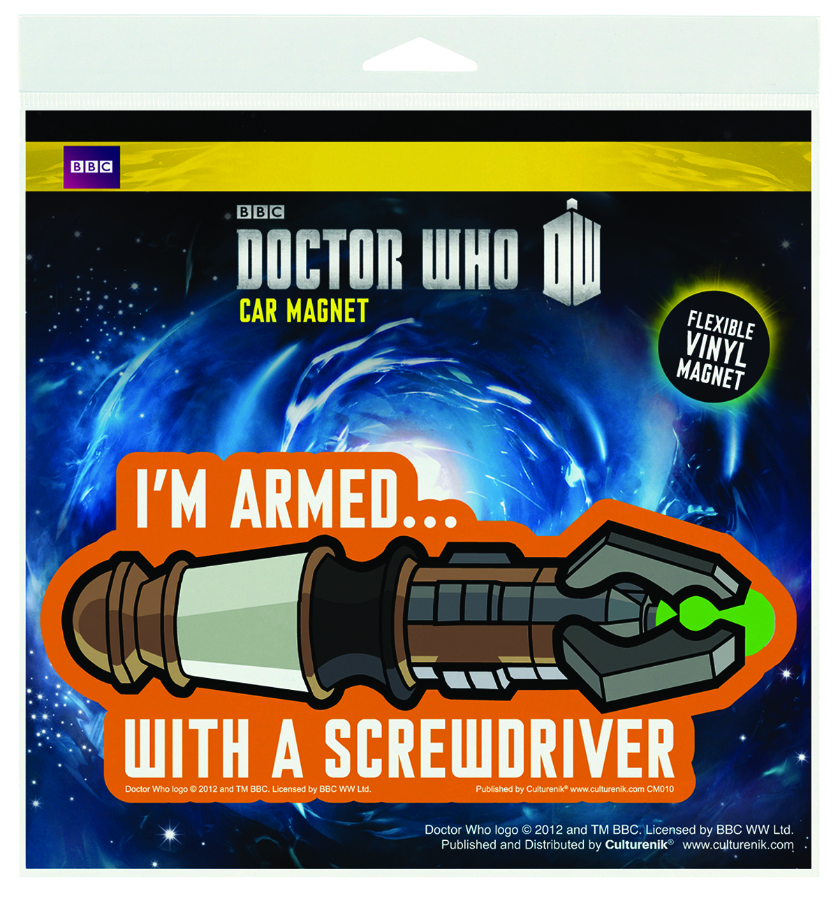 DOCTOR WHO WHOVIAN FLEX CAR MAGNET 3PK