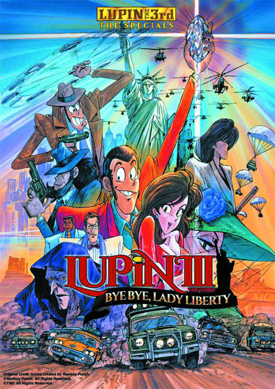LUPIN THE 3RD BYE BYE LADY LIBERTY DVD